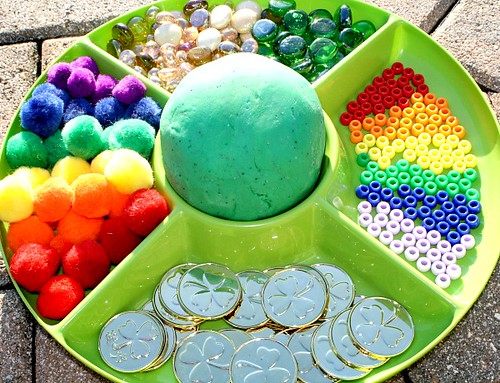 St. Patrick's Day Play Dough (Photo from Fantastic Fun and Learning)