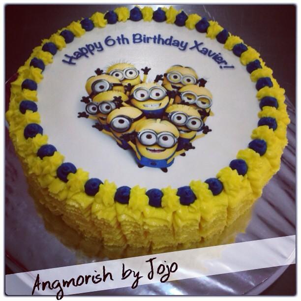 Minion Buttercream Birthday Cake