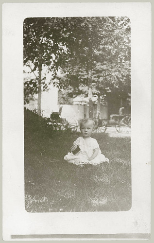 Child on the grass.