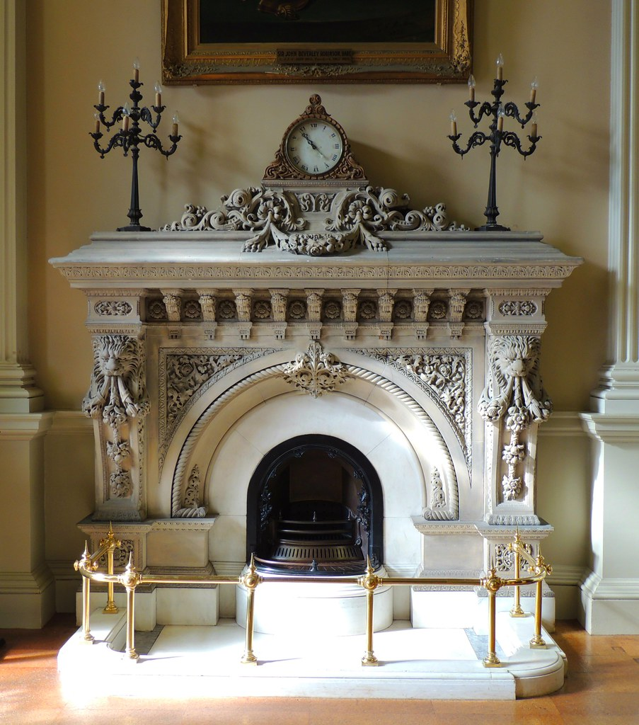 1850s Ornate Fireplace .... Great Library .... Osgoode Hal ...