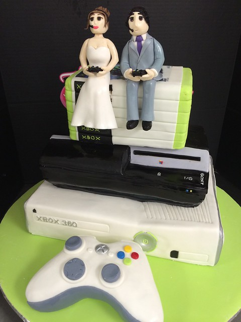 xbox wedding cakes play station and xbox wedding cake flickr photo 27676