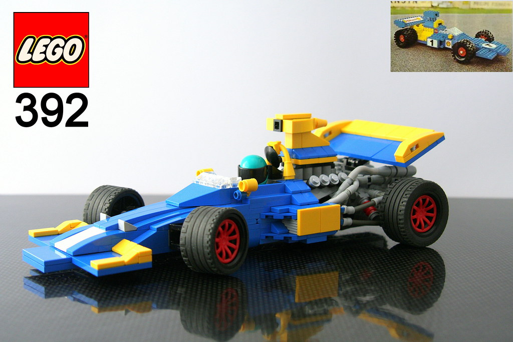 Lego 392 Formula 1 Redux Box Art Back In 1975 The Lego