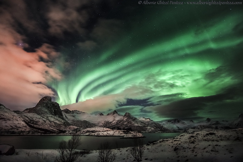 Northern Lights with magnetic storm
