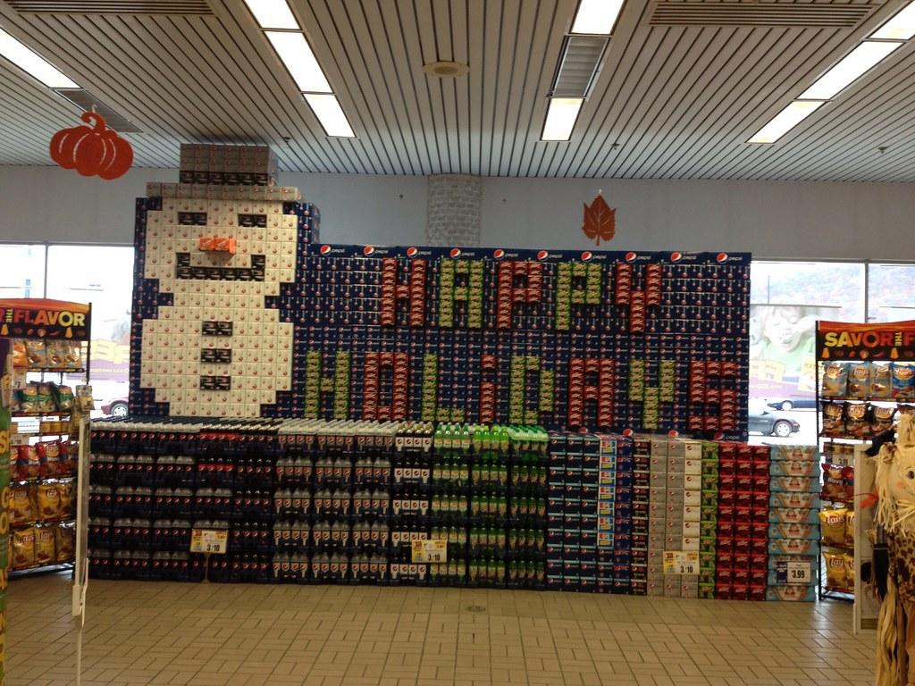 Snowman Pepsi Display | by