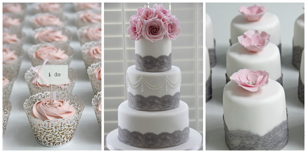 grey white and pink wedding cake grey and pink wedding set up cake back in my 14986