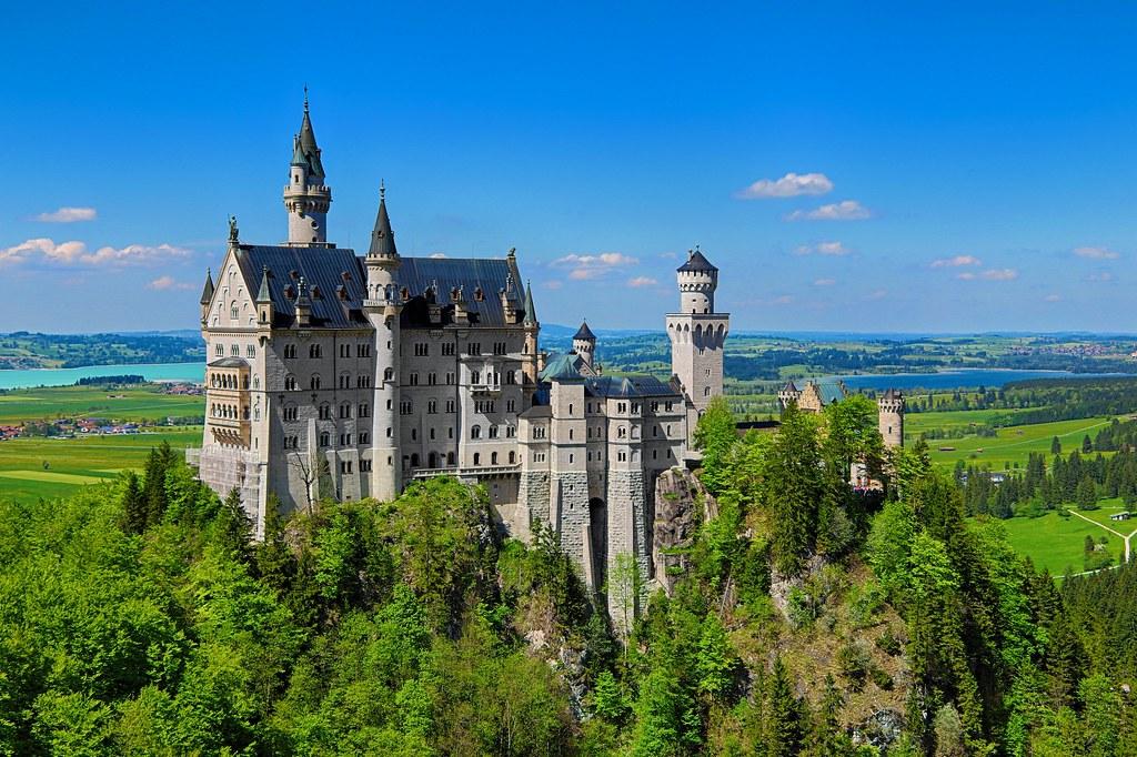 neuschwanstein castle blue sky germany lus henrique de moraes boucault flickr - Blue Castle 2016