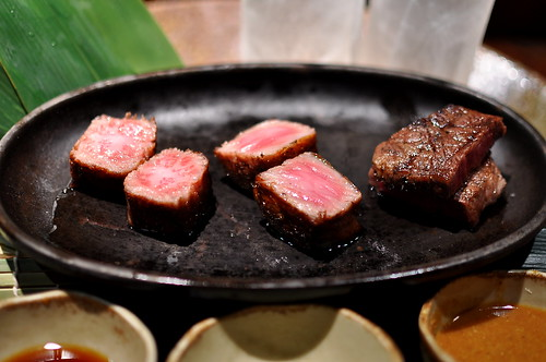 Three-Way Wagyu Tasting: New York, Ribeye, Filet Mignon