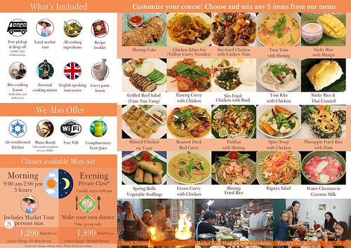 Brochure Nimman Thai Cooking School Chiang Mai Thailand 2