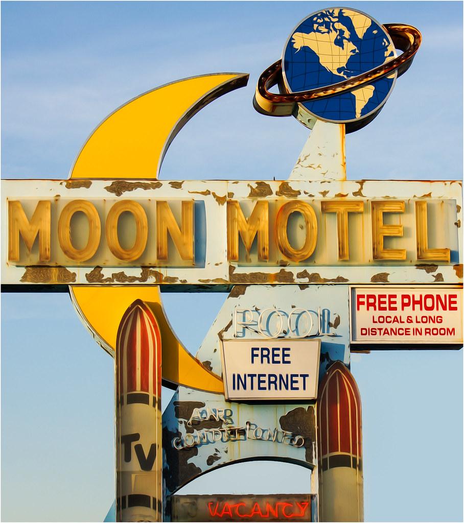 Motel Neon Sign - Moon Motel - NJ