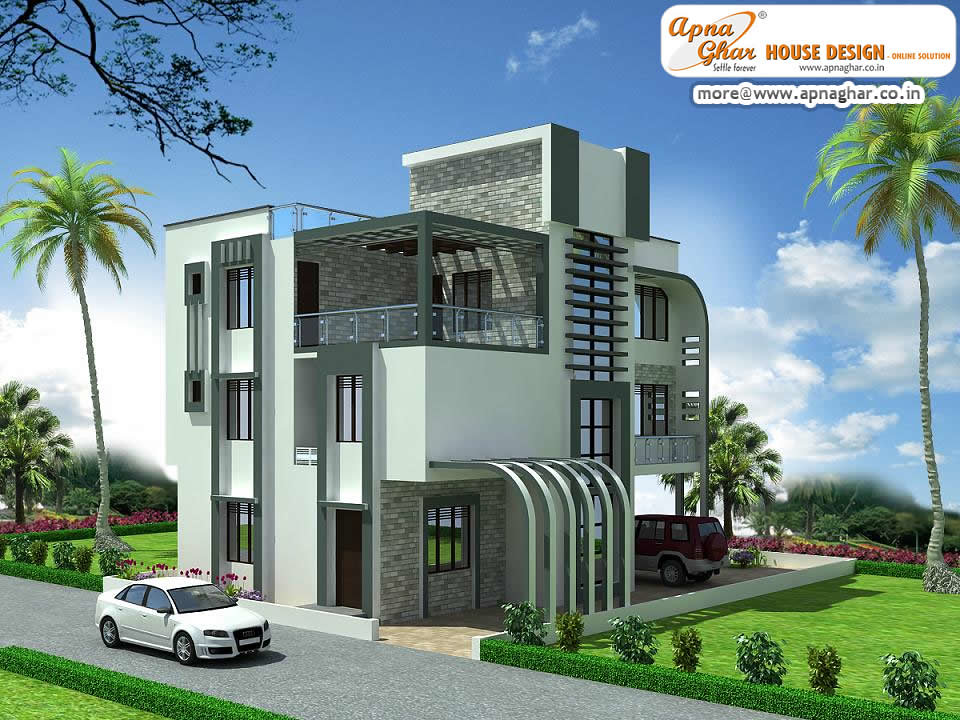 Triplex house plan 4 bedroom luxury triplex house design for 4 floor building design