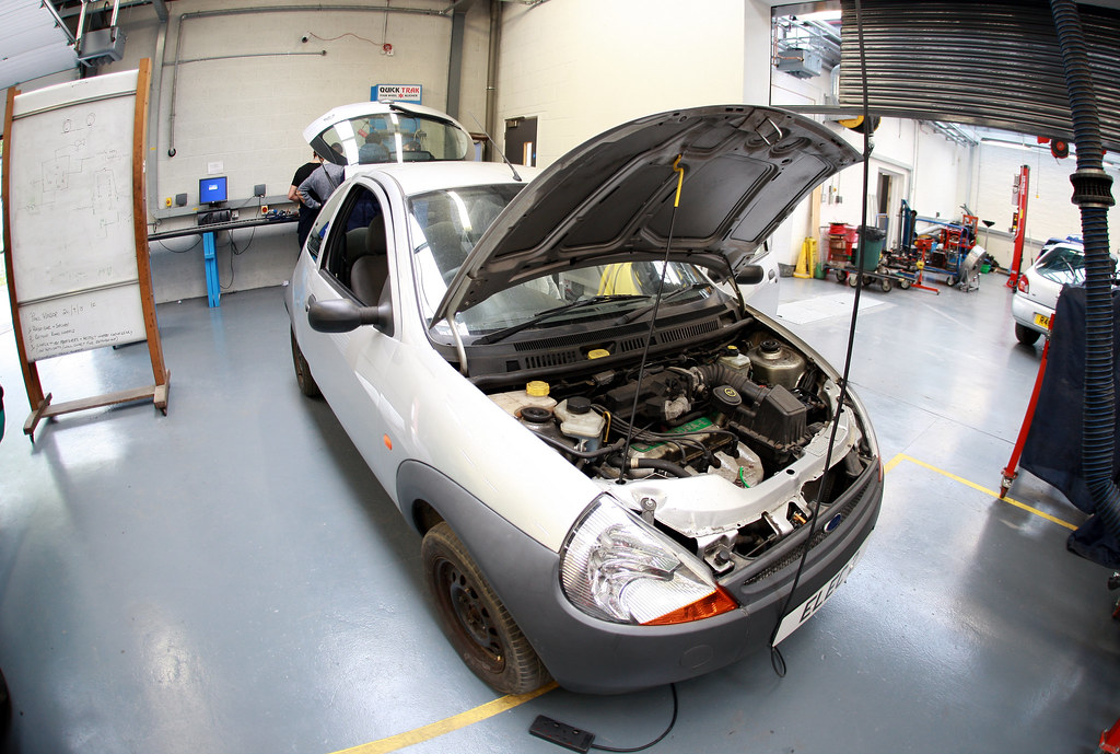 Motor Vehicle Maintenance At Uxbridge College Students