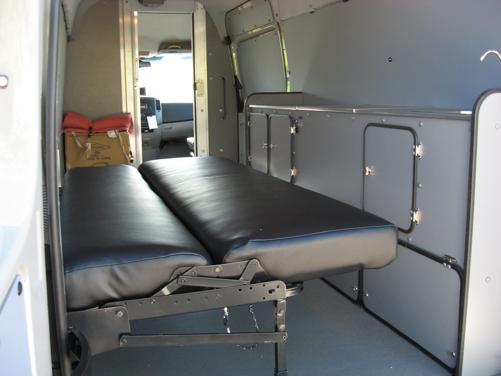 Sprinter Delivery Van Couch Bed In Down Position Kevin