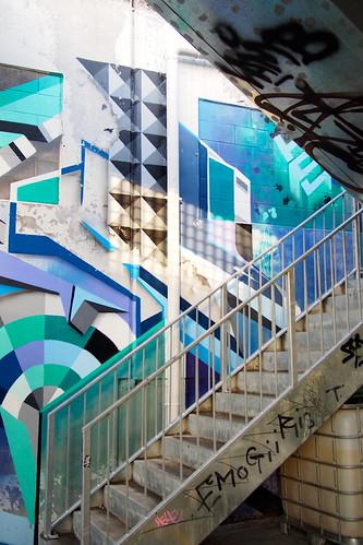 Car park, Street art or graffiti, Rose Street, Brunswick, Melbourne