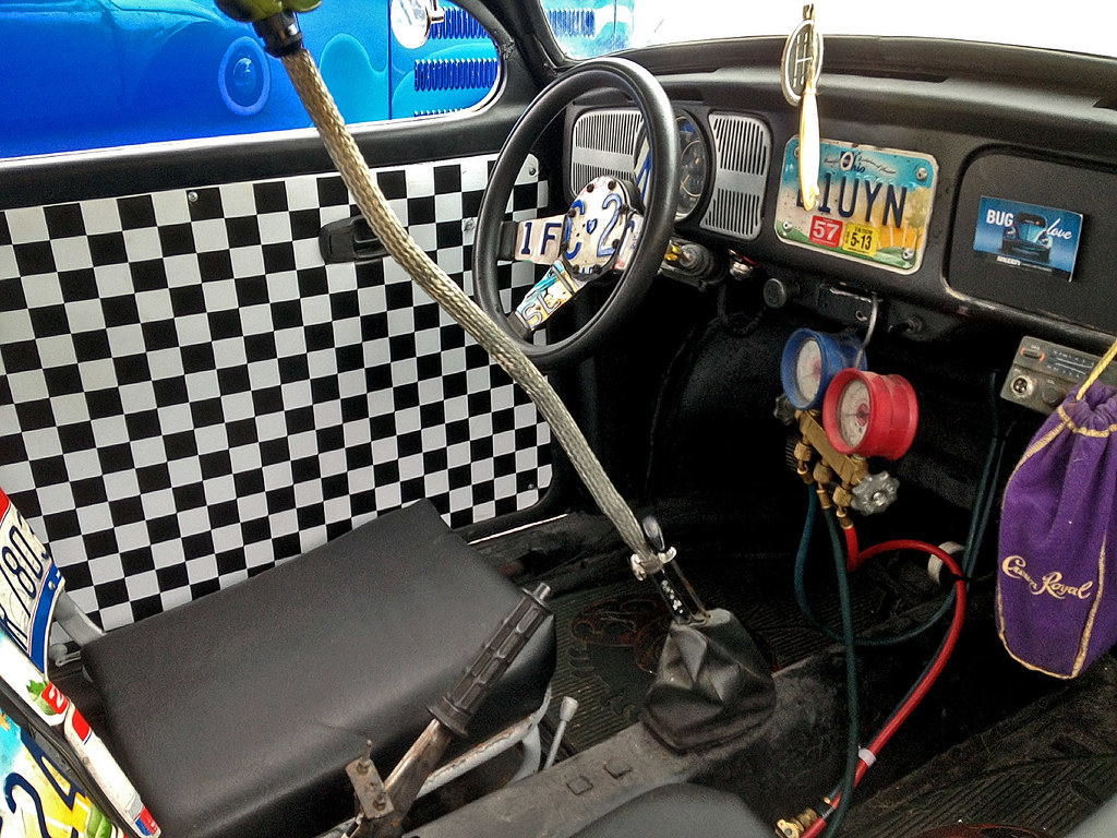 VW rat rod interior | Volkswagen Beetle rat rod's interior. … | Flickr