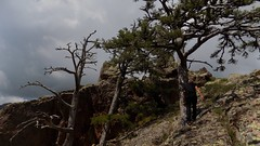 Sur l'arête Sud du Saltare en vue du sommet