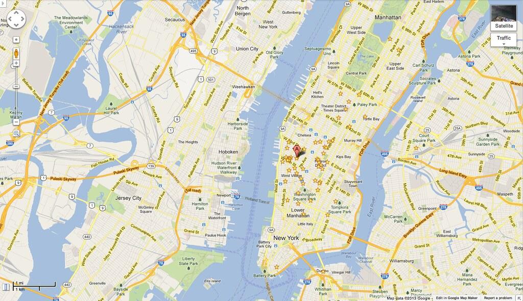 My pirate map of NYC on old Google Maps UI | Ade Oshineye