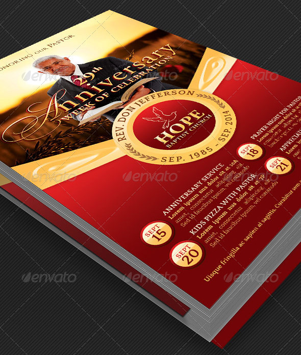 Pastor Anniversary Events Flyer Template