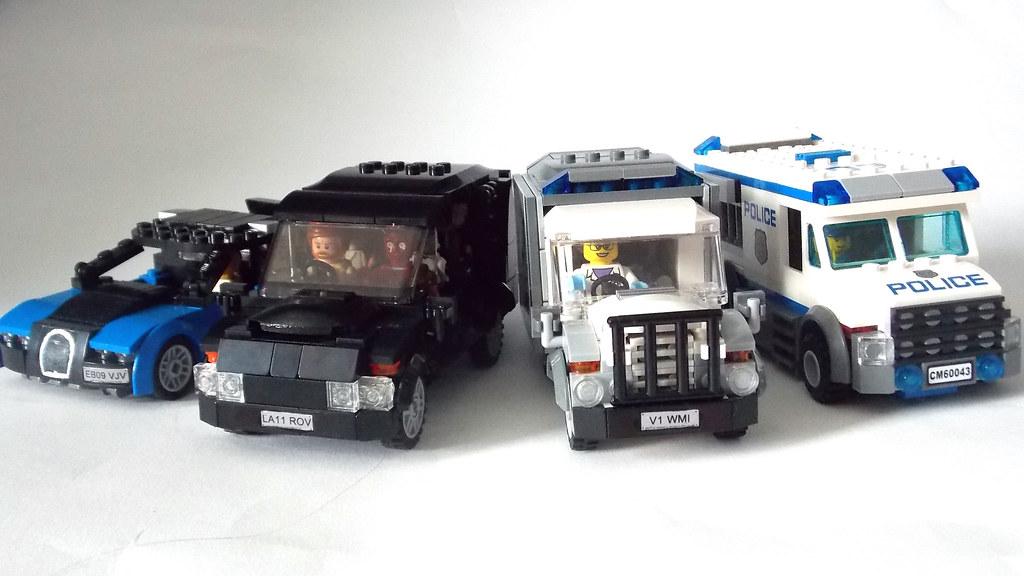 Lego Minifigure Scale Car 7 Wide Suv Seats 7 Minifigs