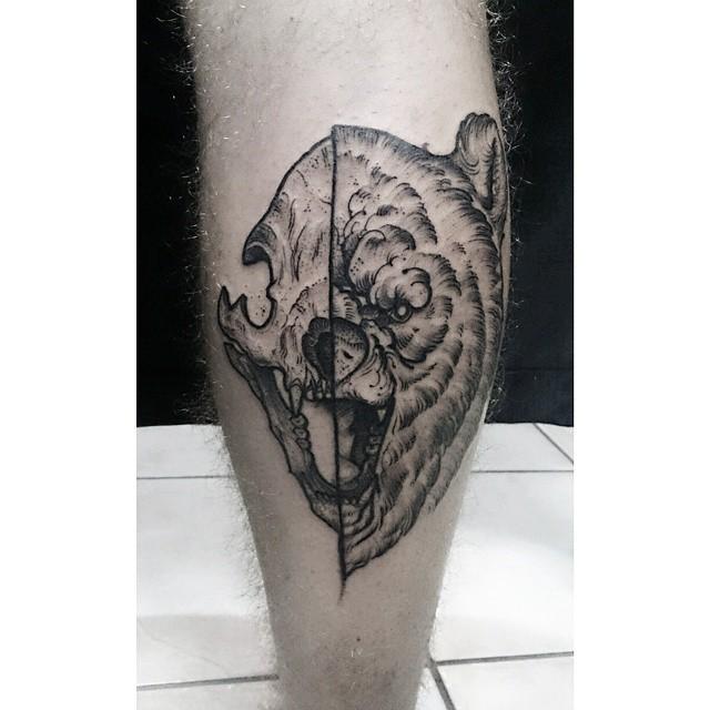 HD-Bear Skull Tattoo – Ashleehusseyphoto