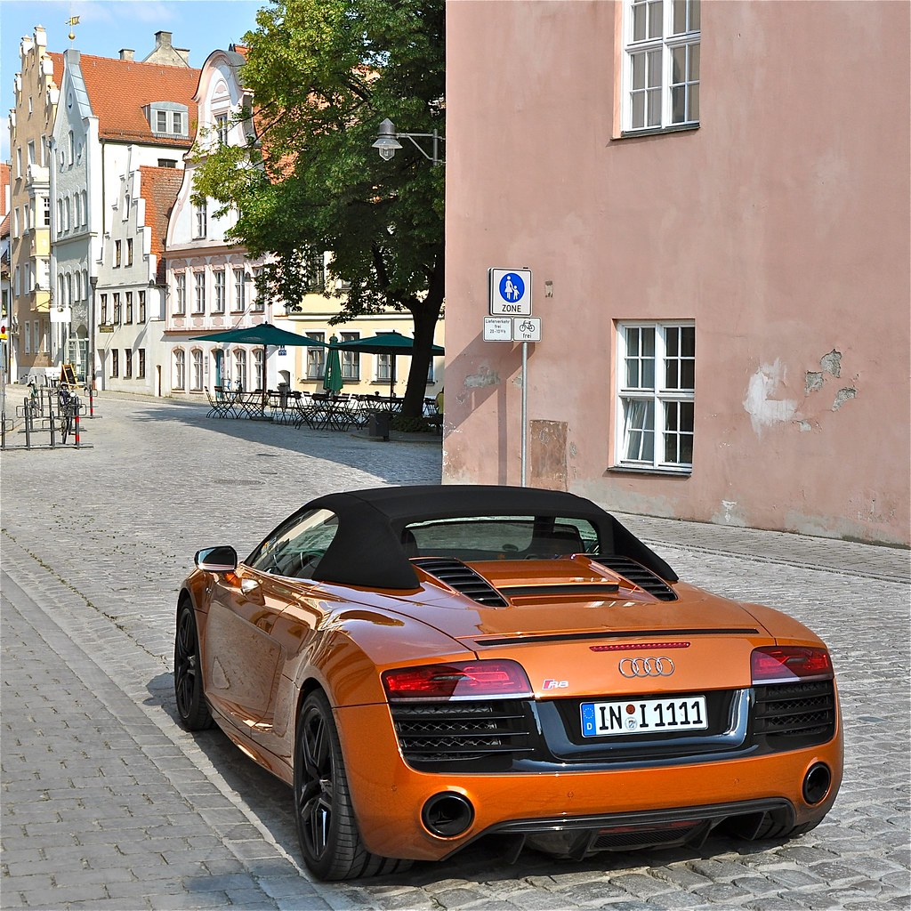 audi r8 v10 spyder in der altstadt von ingolstadt die flickr. Black Bedroom Furniture Sets. Home Design Ideas