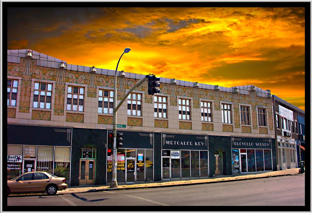 recycled sounds store front art deco office building main st kansas city mo art deco office building