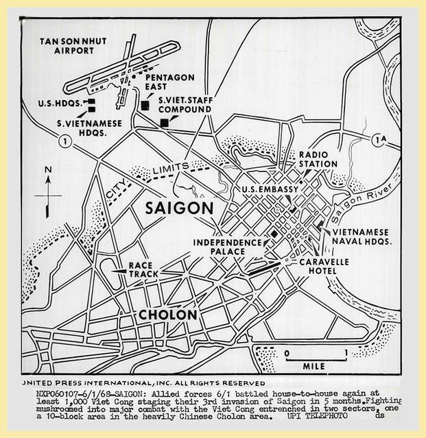 1968 Map Of Saigon - Press Photo