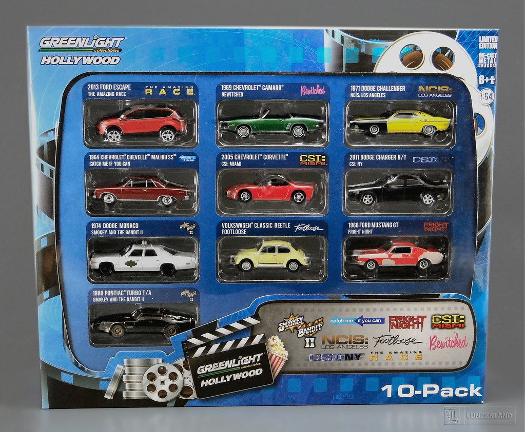 Greenlight Hollywood Collectibles 10 Pack Includes Cars Fr