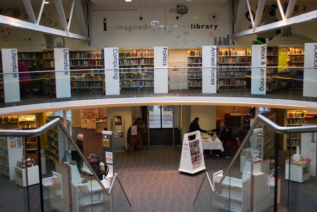 Winchester discovery centre aka public library busy for Lifetime fishing license ny