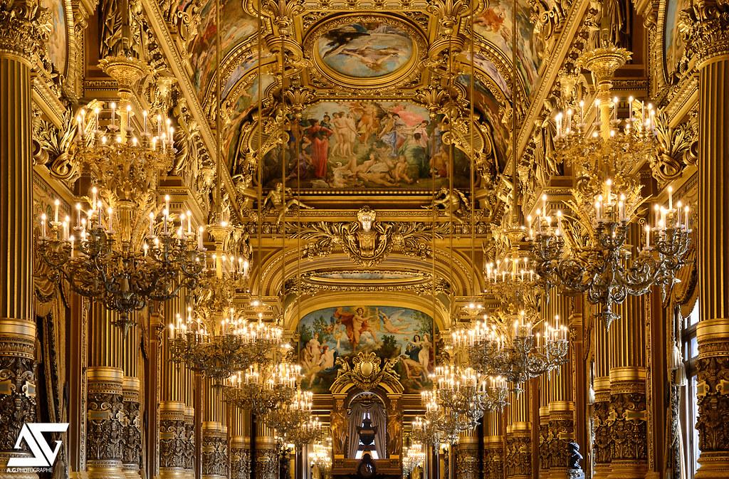 Superficie Grand Foyer Opera Garnier : Le grand foyer opéra garnier paris