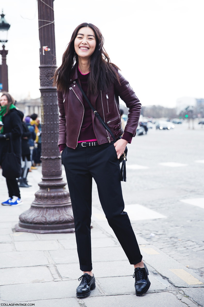 Paris_Fashion_Week_Fall_14-Street_Style-PFW-Model_burgundy_Biker-