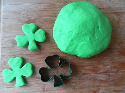 Green Kool-Aid Playdough (Photo from Rockabye Butterfly)