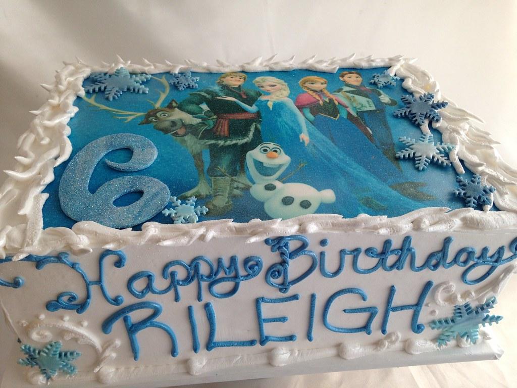 Blue Birthday Sheet Cake