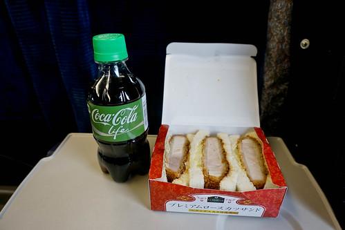 Coca-Cola Life and Katsu sandwich