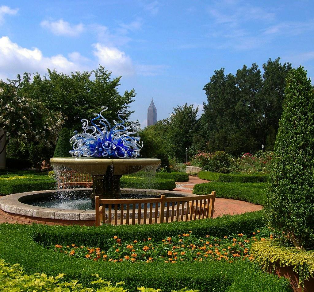 Atlanta Botanical Garden Skyline Gardens: Summer Morning At The Atlanta Botanical Garden