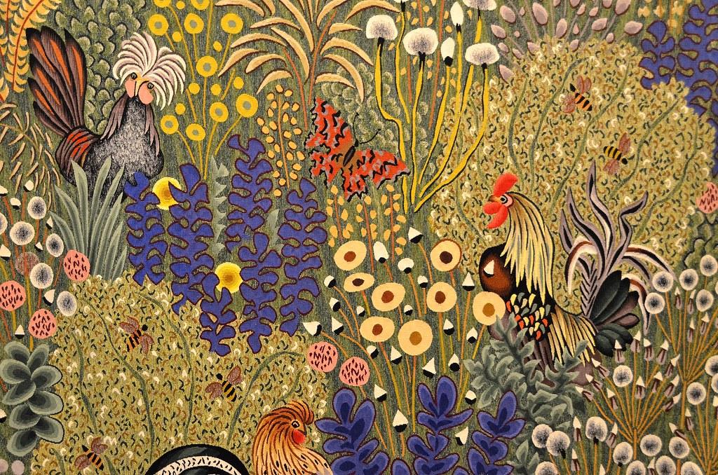 Tapisserie de dom robert juin carton de 1966 d tail - Galerie nationale de la tapisserie beauvais ...
