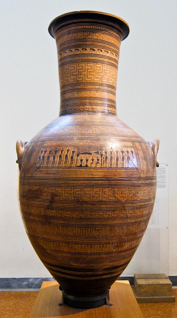 Monumental Attic Grave Amphora Kerameikos Dipylon Painte