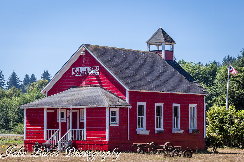 Little Red Schoolhouse Orick California This