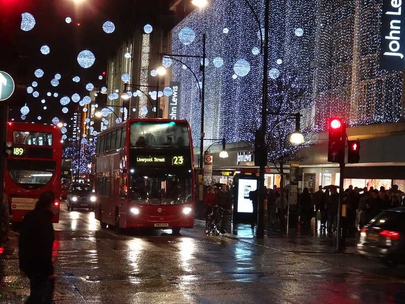 SN12ASX - Oxford Street, London, December 2013.