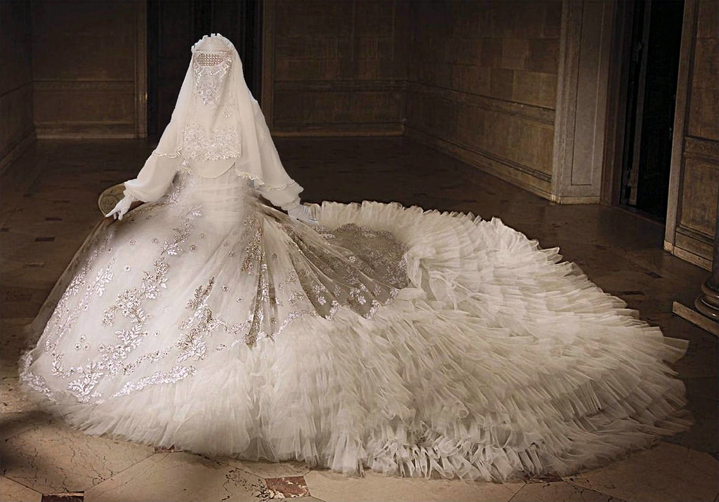1 A Burq Ariisa Living Wedding Gown Tales Of The Veils