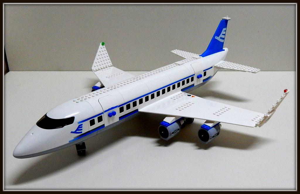 lego city passenger plane 7893 instructions