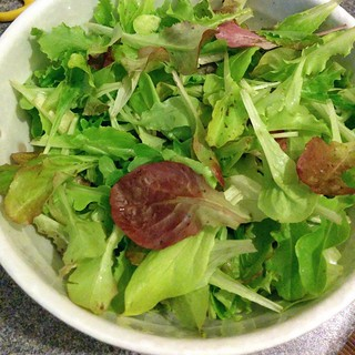 Yesterday's bowl of homegrown salad leaves!