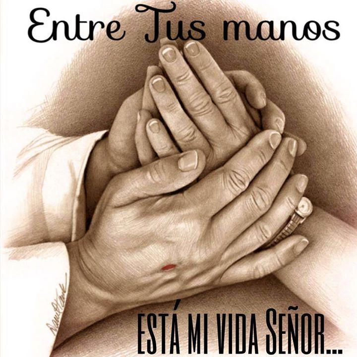 En esta noche mi se or me pongo en tus manos y te pido q for En tus manos senor