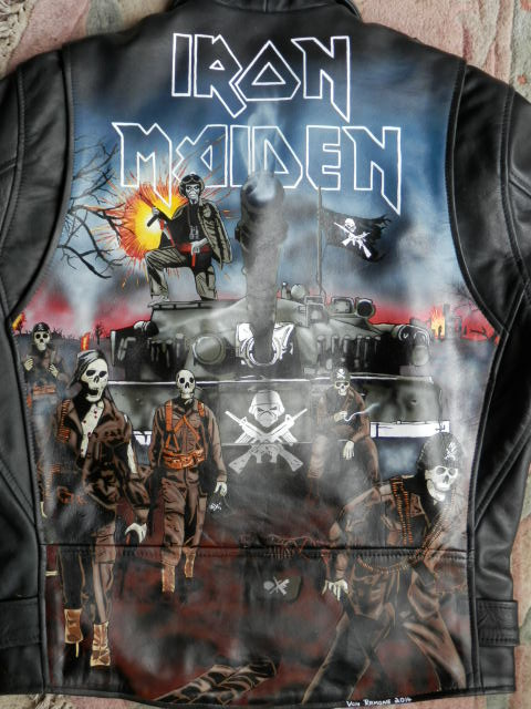 Custom Painted Iron Maiden A Matter Of Life And Death Leat