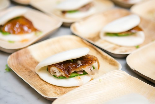Crispy Duck Skin by Chef Zizhao Luo for the Taste Asia Food Festival Press Tasting at the International Culinary Center in Manhattan, New York, on June 10, 2015. (Samira Bouaou/Epoch Times)