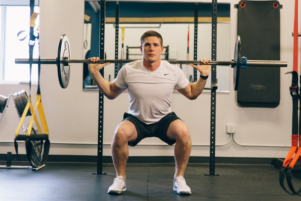 Fitness Model Leg Exercise Strength Weight Training - Must link to https://thoroughlyreviewed.com