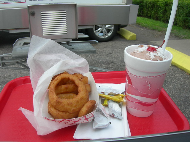Onion Rings & Black Forest Shake | Flickr - Photo Sharing!