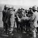 Front de la Marne. Soldats annamites jouant dans un camp 1914 -18