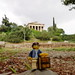 Travels of badger - Ancient Agora of Athens with the Temple of Hephaestus