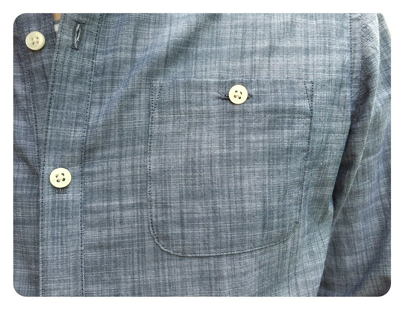 Red Knits_Light Chambray Shirt