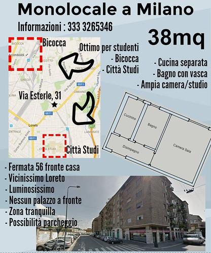 Appartamentino a Milano da usare per studenti
